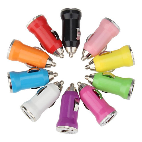 Universal USB Mini Bullet Car Charger Adapter for iPad iPhone Android Cell Phone