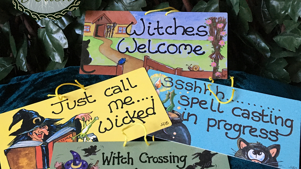Witchy Smiley Signs