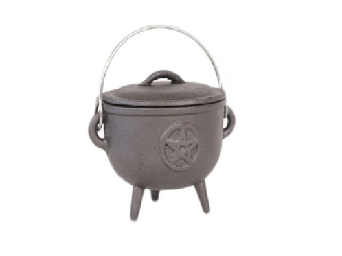 Pentagram - Medium - Cast Iron Cauldron