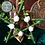 Thumbnail: Pentagram - Green with White Roses - Small