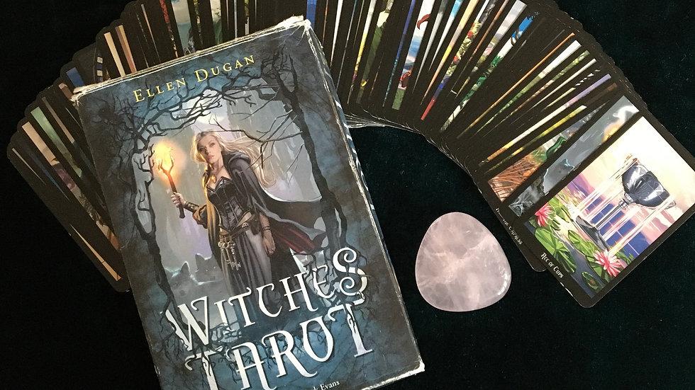 3 Card Psychic Reading - Tarot - Ryder Waite / Witches Tarot