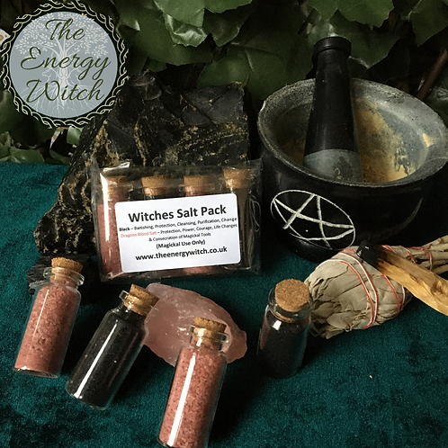 Dragons Blood & Black Witches Salt Pack
