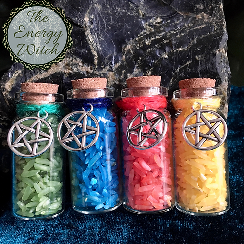 The 4 Elements - Small Bottles with Charms (4pk)