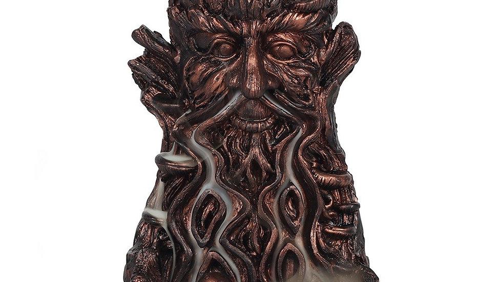 Small - Bronze Effect Tree Man Backflow Incense Burner