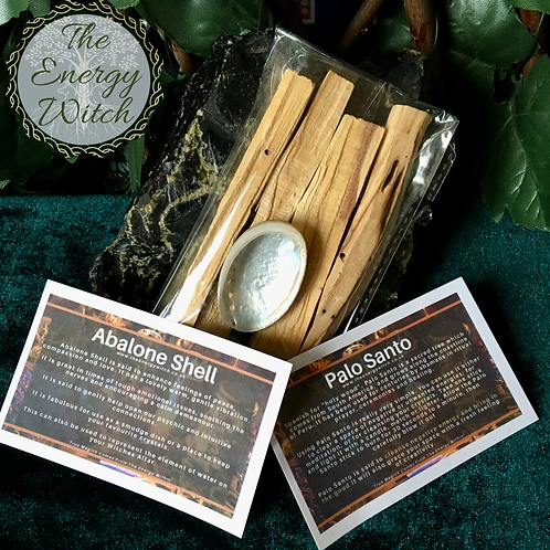 4 x Palo Santo Sticks plus Small Abalone Shell - Mis-shaped