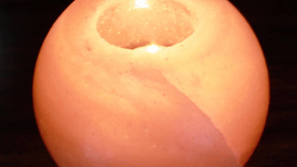 Salt Candle Holder - Round