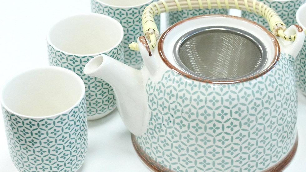 Herbal Teapot Set - Green Mosaic