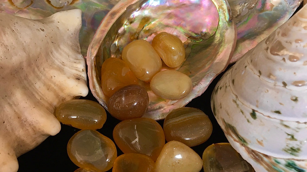 Yellow Agate - Tumbled Stones