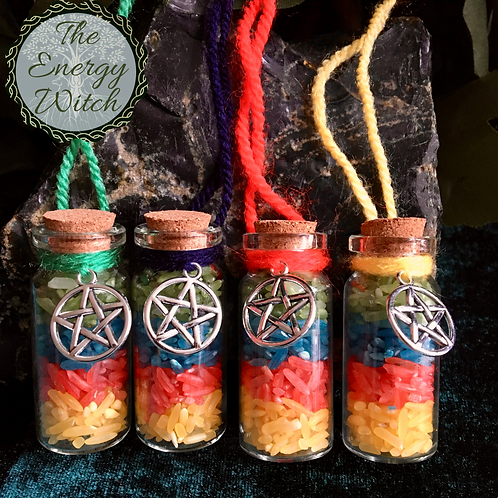 The 4 Elements - Small Bottle with Charms