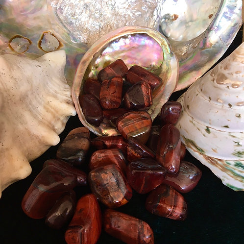 Red Tigers Eye - Tumbled Stones