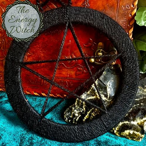 Black Pentagram Dream Catcher