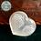 Thumbnail: Engraved Angel Wings Heart - Selenite