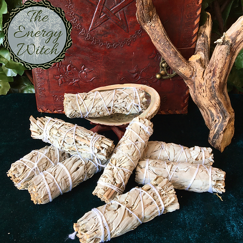 Small - California White Sage - Smudge Stick 10cm
