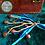 Thumbnail: Witches Bells - Light Blue & Dark Blue  Ribbon