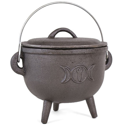 Triple Moon - Large - Cast Iron Cauldron