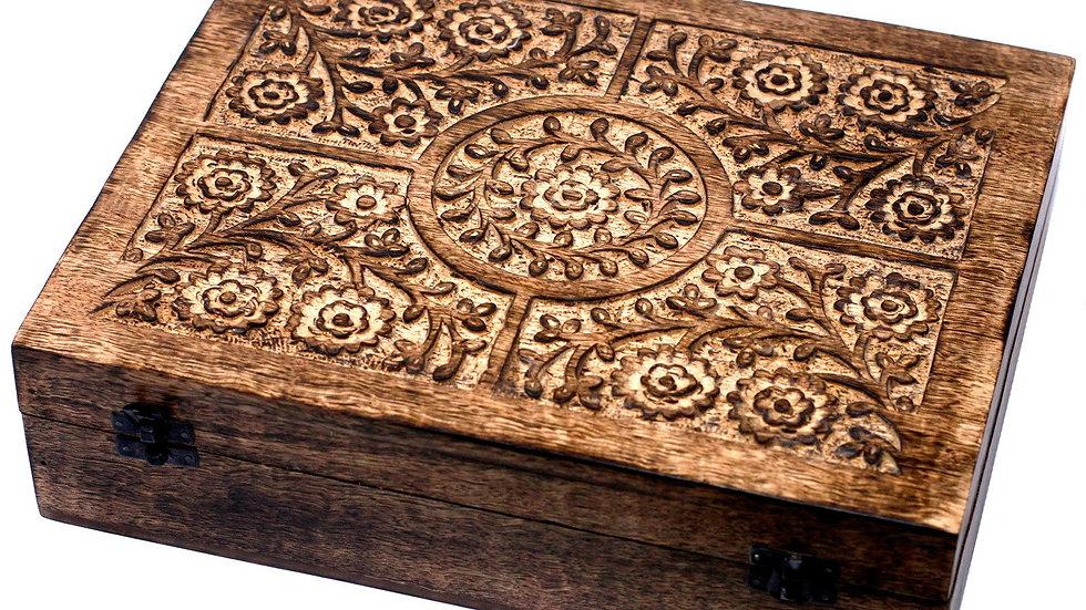 (holds 80) - Mango Aromathrapy Box - Floral