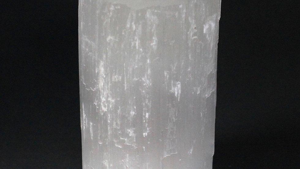 Selenite Cylinder Candle Holder - 15 cm