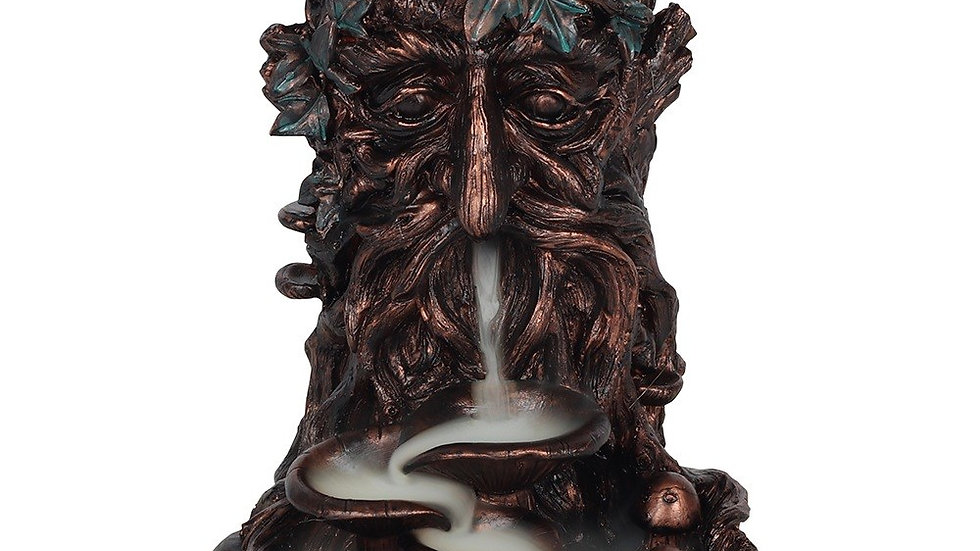 Bronze Effect Tree Man Backflow Incense Burner
