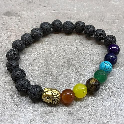 Chakra - Lava Stone Bracelet