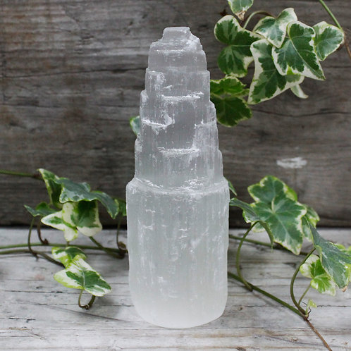 Natural Selenite Tower - 15 cm