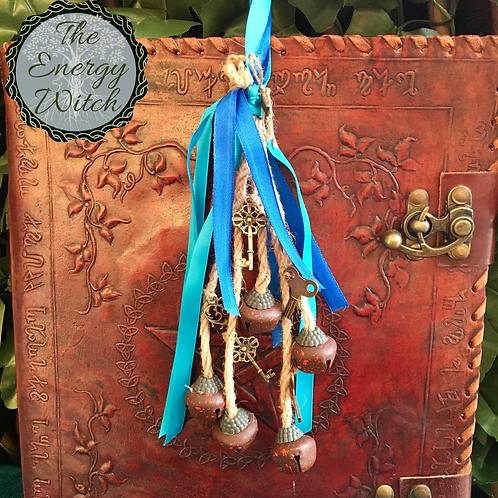 Witches Bells - Light Blue & Dark Blue  Ribbon