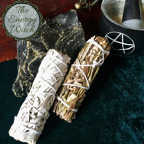 Smudge Stick Pack - 1 x White Sage & 1 xYerba Santa