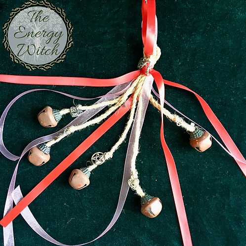 Witches Bells - Red & Pink Ribbon