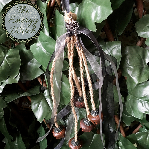 Witches Bells - Black & Grey Ribbon