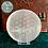 Thumbnail: Engraved Flower of Life Mandala Charging Plate - Selenite