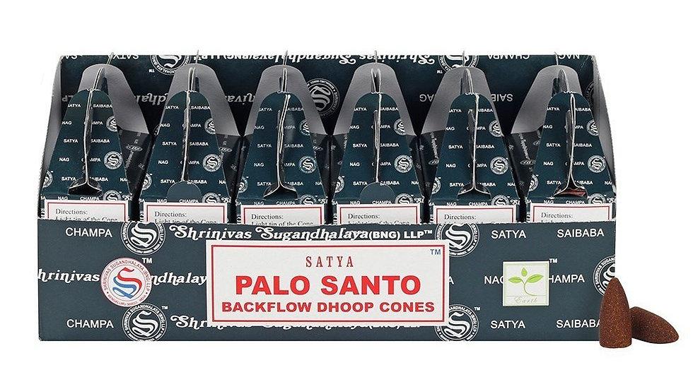 6 Boxes x Palo Santo (24pcs) - Satya Backflow Dhoop Cones