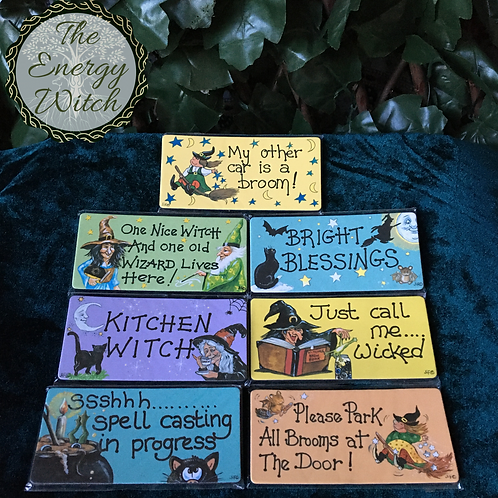 Witchy Smiley Magnets