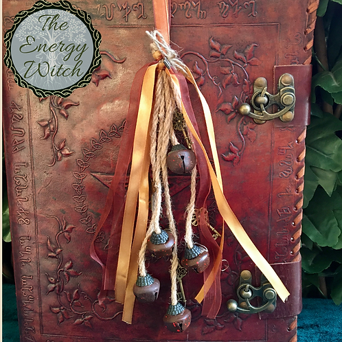 Witches Bells - Brown & Gold Ribbon