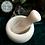 Thumbnail: Medium White Marble Pestle & Mortar - 8x10cm