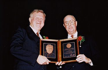 Red McCombs receiving lifetime achivement award from NADA