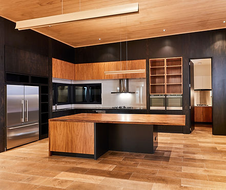 Kitchen Black and Timber