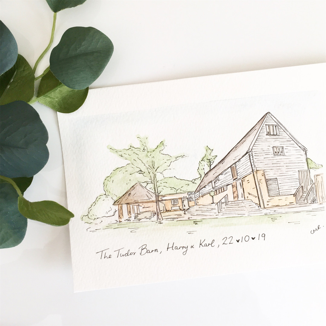 Wedding illustration in water colour