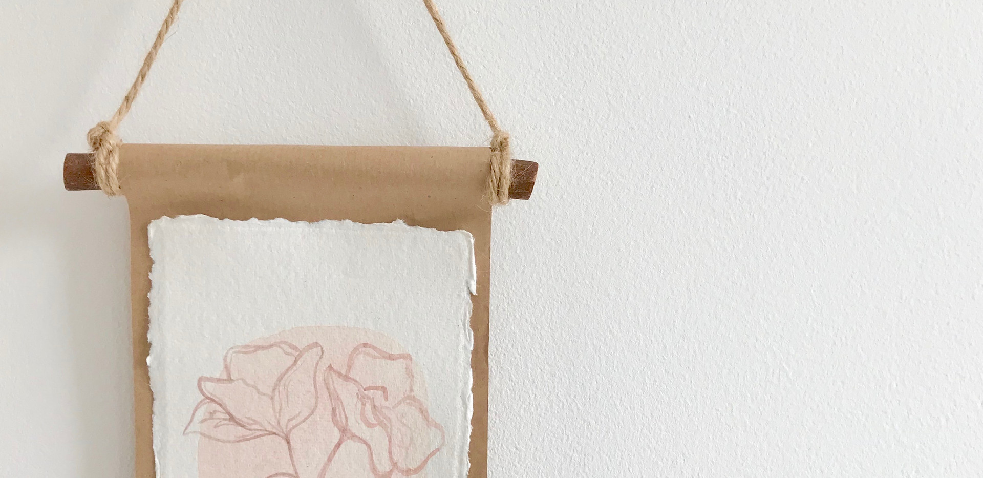 Floral water colour wall hanging