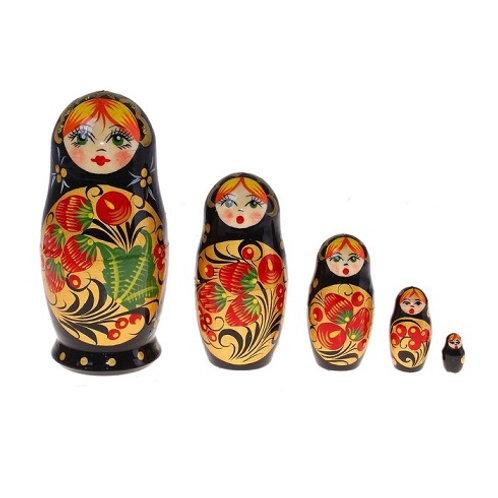 "Матрешка ""Клубничка"", 5 кукол"