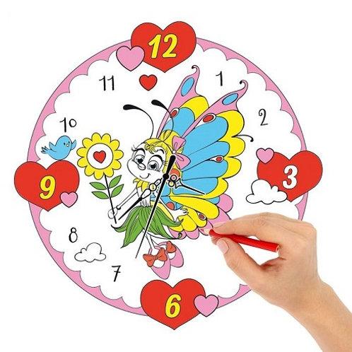 """Часы-раскраска """"Бабочка"""""""