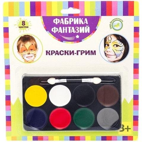 Краски-грим с кистью
