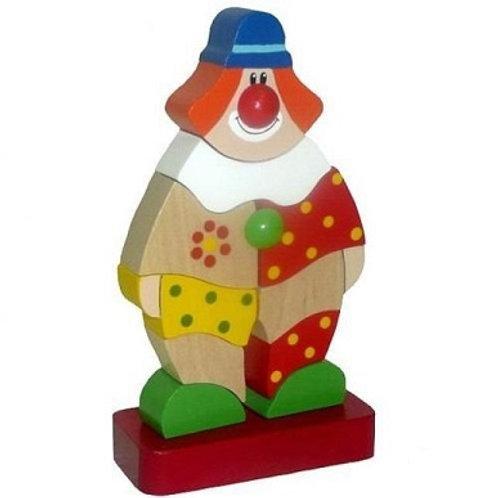 """Деревянная игрушка - пирамидка """"Клоун Клёпа"""""""
