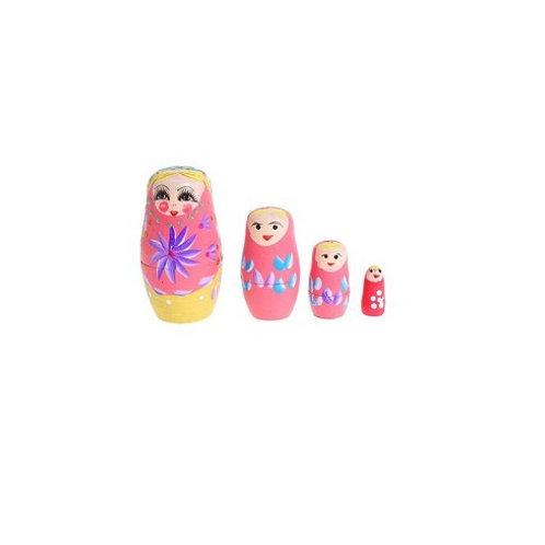 Матрешка с васильками, 4 куклы