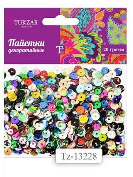 Пайетки разноцветные TUKZAR