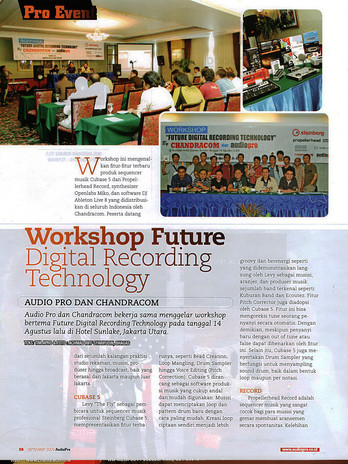 Workshop Future Digital Recording Technology