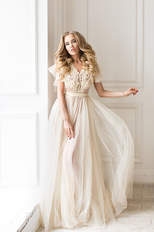 Будуарное платье арт 003Б