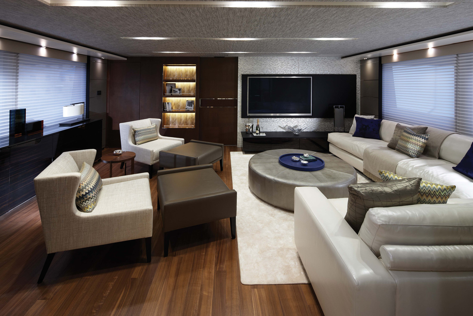 Sky Lounge onboard Princess Yachts M-Class.
