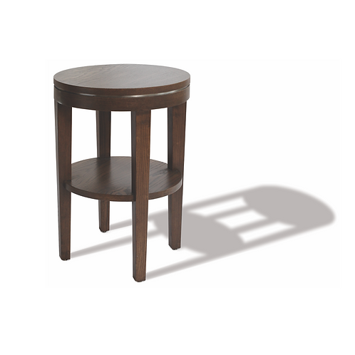 Courtyard round side table