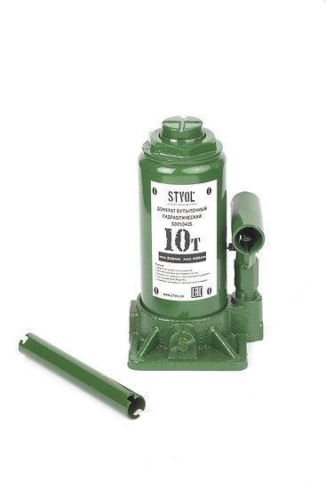 Домкрат бутылочный 10т (210-425 мм) STVOL