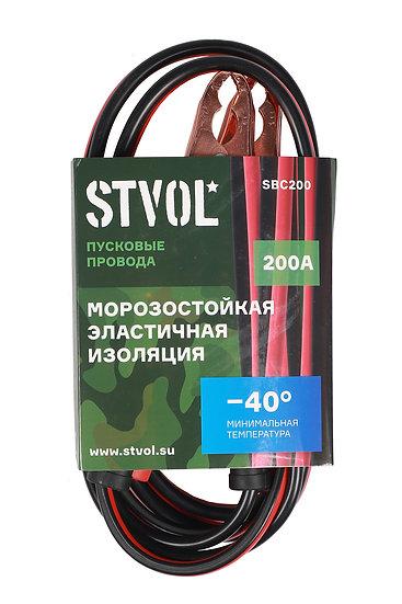 Провода прикуривания STVOL, 200А, 2,5м, 12/24В