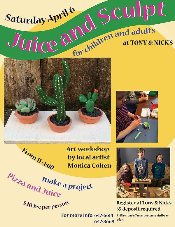 Juice and Sculpt Workshop